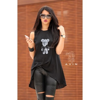 T-shirt AVIN Bear in Black